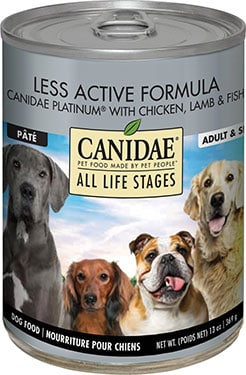 CANIDAE All Life Stages Less Active Chicken, Lamb & Fish Dog Food