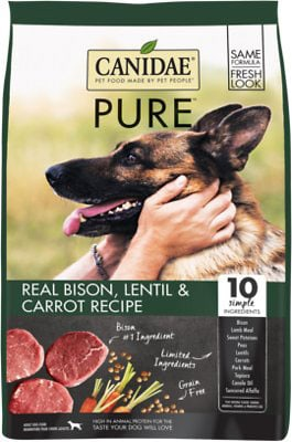 CANIDAE PURE Real Bison Lentil & Carrot Dry Dog Food