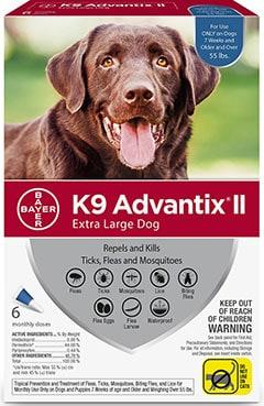 K9 Advantix II Flea & Tick Treatment for Extra Large Dogs
