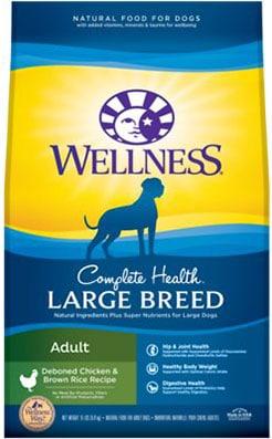 Wellness Large Breed Complete Health Adult Deboned Chicken & Brown Rice
