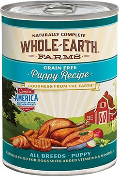 Whole Earth Farms Grain-Free Puppy Canned Dog Food