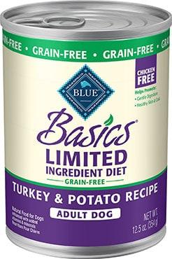 Blue Buffalo Basics Limited Ingredient Turkey & Potato Canned Dog Food