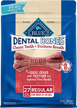 Blue Buffalo Dental Bones All Natural Rawhide-Free Dental Treats