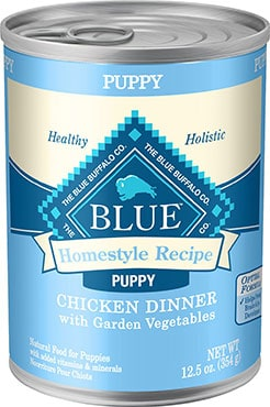 Blue Buffalo Homestyle Recipe Puppy Chicken with Vegetables Canned Dog Food