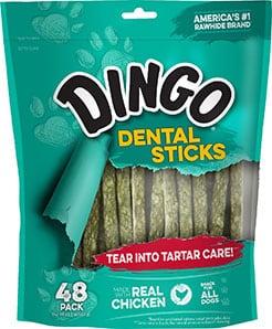 Dingo Dental Sticks Tartar Control Dental Dog Treats