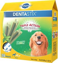Pedigree Dentastix Fresh Mint Flavored Large Dental Dog Treats