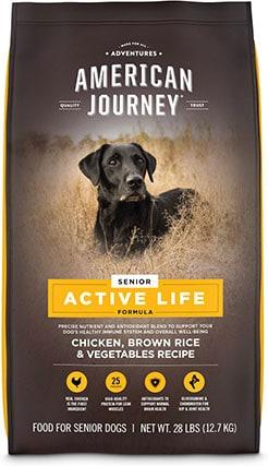 American Journey Active Life Formula Senior Chicken, Brown Rice & Vegetables Recipe Dry Dog Food
