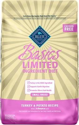 Blue Buffalo Basics Limited Ingredient Diet Turkey & Potato Recipe Small Breed Adult