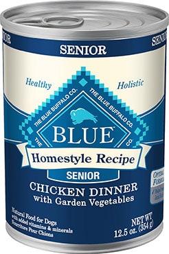 Blue Buffalo Homestyle Recipe Senior Chicken Dinner with Garden Vegetables
