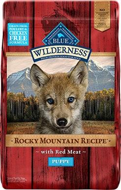 Blue Wilderness Rocky Mountain Recipe Grain-Free Puppy Food