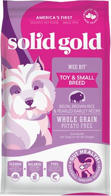 Solid Gold Wee Bit Bison & Brown Rice Recipe Small Breed Dry Dog Food