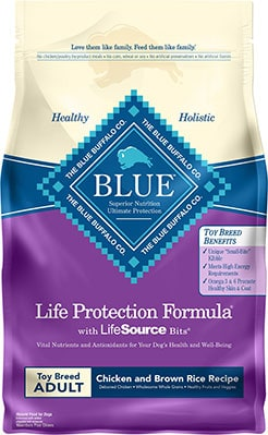 Blue Buffalo Life Protection Formula Toy Breed Adult Chicken and Brown Rice