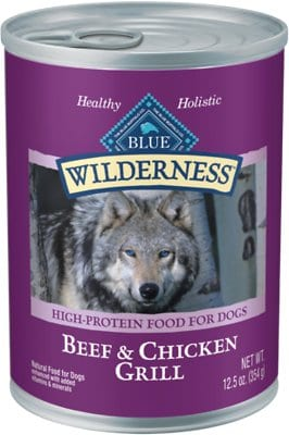 Blue Buffalo Wilderness Beef & Chicken Grill Grain-Free Canned Dog Food