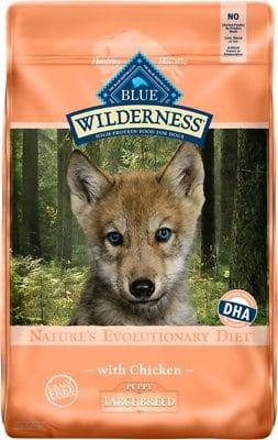 Blue Buffalo Wilderness Large Breed Puppy Chicken Recipe Grain-Free Dry Dog Food