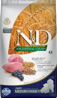 Farmina N&D Ancestral Grain Lamb & Blueberry Recipe Puppy Medium & Maxi Dry Dog Food