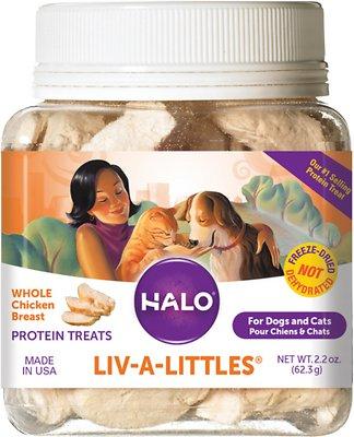 Halo Liv-a-Littles Grain-Free 100% Chicken Breast Freeze-Dried Dog & Cat Treats