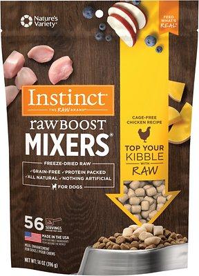 Instinct Raw Boost Mixers Chicken Recipe Grain-Free Freeze-Dried Dog Food Topper
