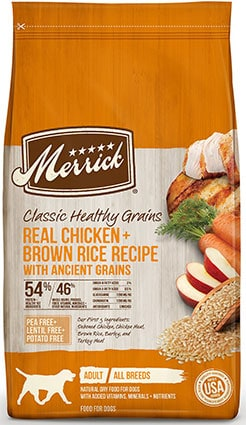 Merrick Classic Healthy Grains Real Chicken + Brown Rice Recipe