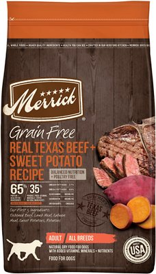 Merrick Real Texas Beef + Sweet Potato Recipe Grain-Free Adult Dry Dog Food