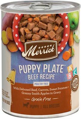 Merrick Grain Free Wet Puppy Food Puppy Plate Beef Recipe