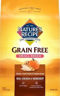 Nature's Recipe Small Breed Grain-Free Chicken Sweet Potato & Pumpkin Recipe
