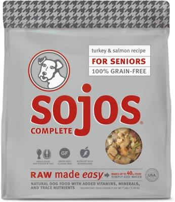 Sojos Complete Turkey & Salmon Recipe Senior Grain-Free Freeze-Dried Dehydrated Dog Food