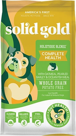 Solid Gold Holistique Blendz with Oatmeal, Pearled Barley & Ocean Fish Meal Sensitive Stomach Dry Dog Food