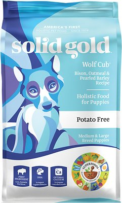 Solid Gold Wolf Cub Bison & Oatmeal Puppy Formula Dry Dog Food
