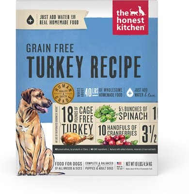 The Honest Kitchen Turkey Recipe Grain-Free Dehydrated Dog Food