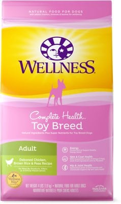 Wellness Toy Breed Complete Health Adult Deboned Chicken, Brown Rice & Peas Recipe Dry Dog Food
