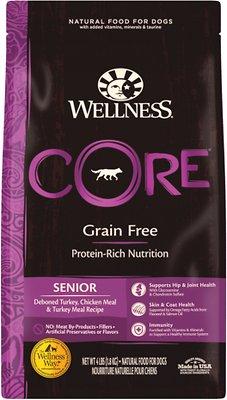 Wellness CORE Grain-Free Senior Deboned Turkey Recipe Dry Dog Food