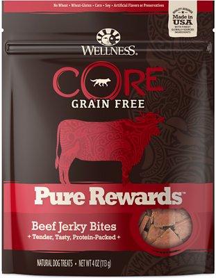 Wellness CORE Pure Rewards Beef Grain-Free Jerky Bits Dog Treats