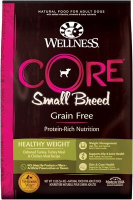 Wellness CORE Grain-Free Small Breed Healthy Weight Deboned Turkey Recipe Dry Dog Food
