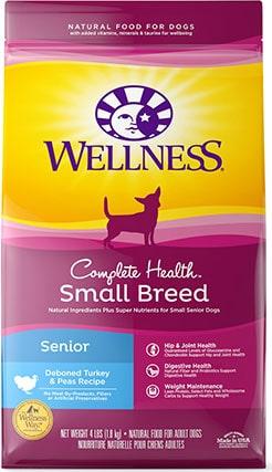 Wellness Small Breed Complete Health Senior Deboned Turkey & Peas Recipe
