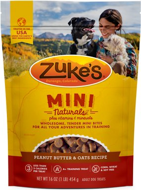 Zuke's Mini Naturals Peanut Butter & Oats Recipe Training Dog Treats