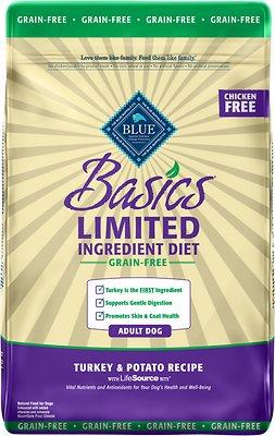 Blue Buffalo Basics Limited Ingredient Grain-Free Formula Turkey & Potato Recipe Adult Dry