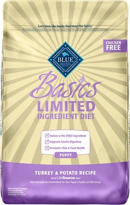 Blue Buffalo Basics Limited Ingredient Diet Turkey & Potato Recipe Puppy Dry