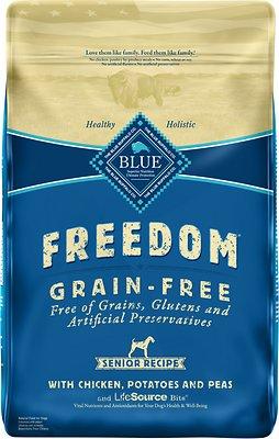 Blue Buffalo Freedom Senior Chicken Recipe Grain-Free Dry Dog Food
