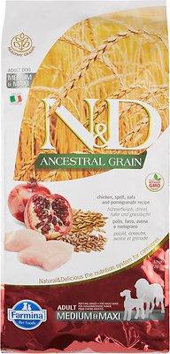 Farmina N&D Ancestral Grain Chicken & Pomegranate Medium & Maxi Adult Dry