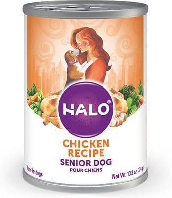 Halo Holistic Chicken Recipe Senior Canned Dog Food