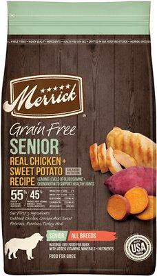 Merrick Grain-Free Senior Chicken + Sweet Potato Recipe Dry Dog Food