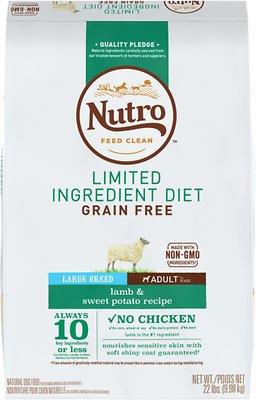 Nutro Limited Ingredient Diet Grain-Free Adult Large Breed Lamb & Sweet Potato Recipe Dry
