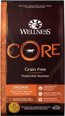 Wellness CORE Grain-Free Original Deboned Turkey, Turkey Meal & Chicken Meal Recipe Dry
