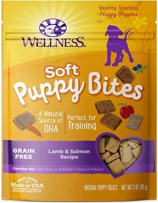 Wellness Soft Puppy Bites Lamb & Salmon Recipe Grain-Free Dog Treats