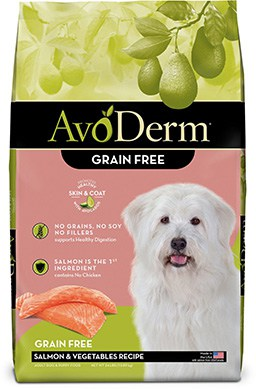 AvoDerm Natural Grain-Free Salmon & Vegetables Formula All Life Stages Dry Dog Food