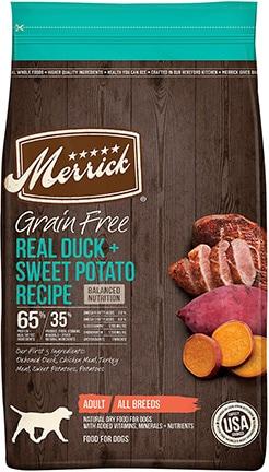 Merrick Grain-Free Duck + Sweet Potato Recipe Dry Dog Food