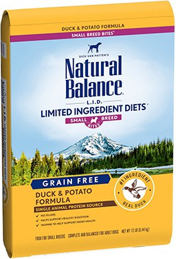 Natural Balance L.I.D. Limited Ingredient Diets Small Breed Bites Grain-Free Duck & Potato Formula Dry Dog Food